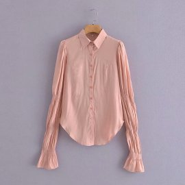 Lotus Sleeves All-match Blouse Nihaostyles Wholesale Clothing Vendor NSAM75630