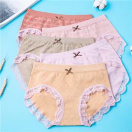 Mid-waist Cotton Ladies Briefs 5 Pieces Nihaostyles Clothing Wholesale NSLSD75642