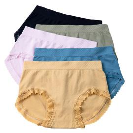 Women's Mid-waist Bow Soft Modal Cotton Panties 5-piece Nihaostyles Clothing Wholesale NSLSD75643