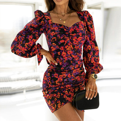 Women's Square Neck Slim Fit Dress Nihaostyles Clothing Wholesale NSHHF75802