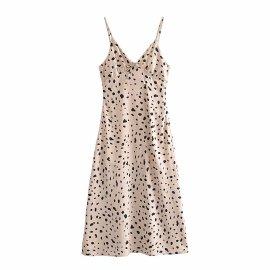 Slim Irregular Polka Dot Suspender Dress Nihaostyles Wholesale Clothing Vendor NSAM75860