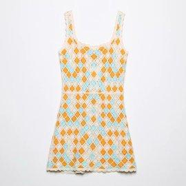 Crochet Mini Sling Dress Nihaostyles Wholesale Clothing Vendor NSAM75866
