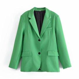 Pure Color Lapel Blazer Nihaostyles Wholesale Clothing Vendor NSAM75884
