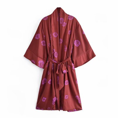 Long Printed Kimono Dress Nihaostyles Wholesale Clothing Vendor NSAM75887