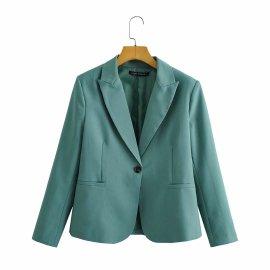 Solid Color Small Blazer Nihaostyles Wholesale Clothing Vendor NSAM75893