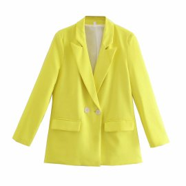 Double-breasted Loose Blazer Nihaostyles Wholesale Clothing Vendor NSAM75896