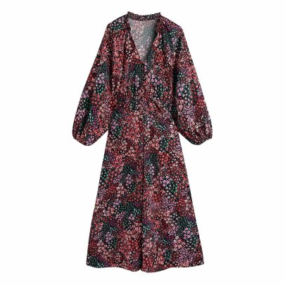 Flower Printing Long Long Sleeved Jumpsuit Nihaostyles Wholesale Clothing Vendor NSAM75898