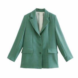 Shoulder Pads Straight Blazer Nihaostyles Wholesale Clothing Vendor NSAM75907