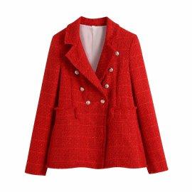 Woolen Solid Color Blazer Nihaostyles Wholesale Clothing Vendor NSAM75908