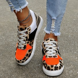 Thick-soled Leopard-print Laces Flats Nihaostyles Wholesale Clothing Vendor NSHYR75934