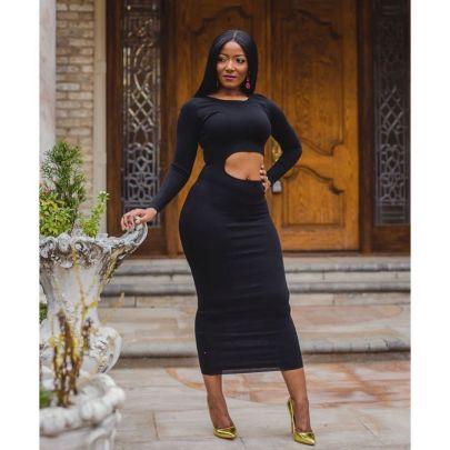 Women's Round Neck Hollow Dress Nihaostyles Clothing Wholesale NSMNS75936