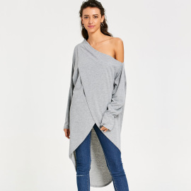 Sexy Long-sleeved Irregular Off-the-shoulder Dress Nihaostyles Wholesale Clothing Vendor NSOY75983