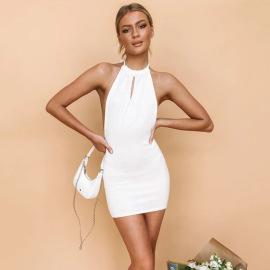 New Halter Strapless Dress Nihaostyles Wholesale Clothing Vendor NSYBN76002