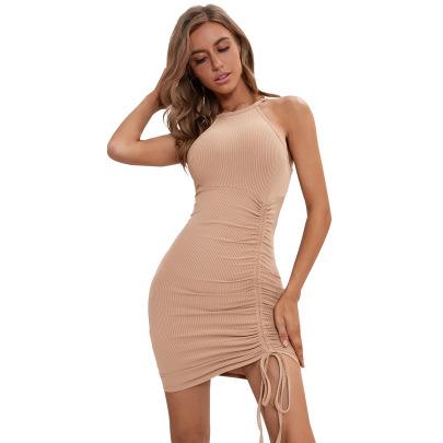 Women's Drawstring Short Dress Nihaostyles Clothing Wholesale NSJM76018