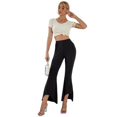 Women's Slim Irregular Trousers Nihaostyles Clothing Wholesale NSJM76021