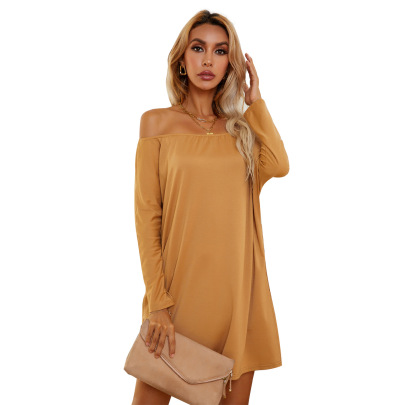 Women's Solid Color Loose Open Back Dress Nihaostyles Clothing Wholesale NSJM76023