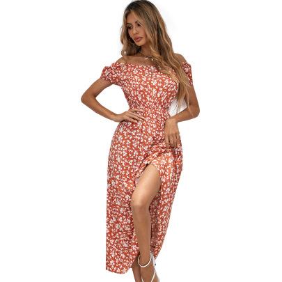 Women's Floral Slits Dress Nihaostyles Clothing Wholesale NSJM76031