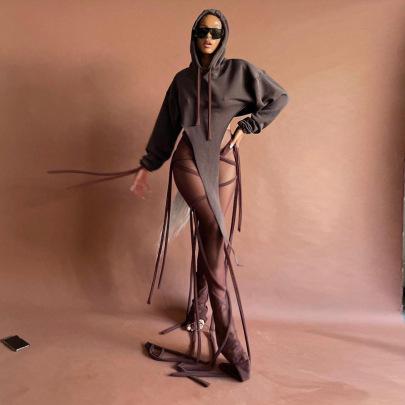 Women's Mesh Bandage Stitching Trousers Nihaostyles Clothing Wholesale NSLJ76061