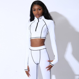 Women's Long-sleeved Yoga Fitness Suit Nihaostyles Clothing Wholesale NSLJ76066