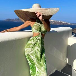 Women's Sleeveless Vest Waistless Stitching Dress Nihaostyles Clothing Wholesale NSLJ76118