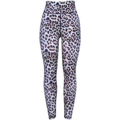Women's Leopard Print High-waist Hip-lifting Fitness Yoga Leggings Nihaostyles Clothing Wholesale NSLJ76129