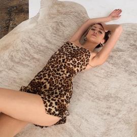Women's Ultra-thin Sling Print Split Dress Nihaostyles Clothing Wholesale NSLJ76141