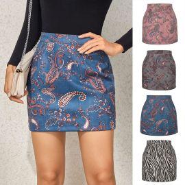 Cashew Flower Zipper A-line Skirt Nihaostyles Wholesale Clothing Vendor NSLDY76316