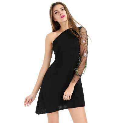 Sexy Mesh Embroidery Perspective Dress Nihaostyles Wholesale Clothing Vendor NSLDY76323