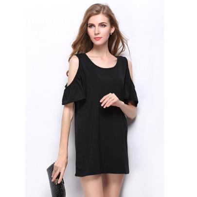 Thin Ruffled Strapless Dress Nihaostyles Wholesale Clothing Vendor NSLDY76324