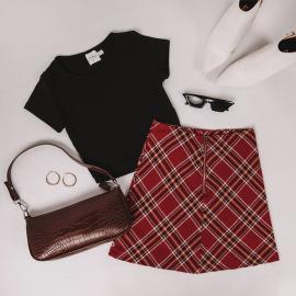 Fashion Plaid Zipper Skirts Nihaostyles Wholesale Clothing Vendor NSLDY76330
