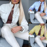 Women's Stand Collor Solid Color Zipper Jacket Nihaostyles Clothing Wholesale NSLAI76344