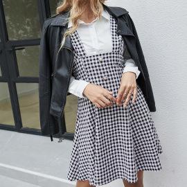 Waist Skirt Single-breasted Suspender Dress Nihaostyles Wholesale Clothing Vendor NSDF76442