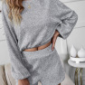 Long-sleeved Sweater Two-piece New Solid Color Clothing Set Nihaostyles Wholesale Clothing Vendor NSDF76444