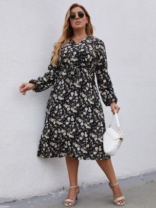 Plus Size Slim Print Bandage Dress Nihaostyles Wholesale Clothing Vendor NSCX76464