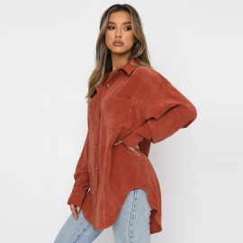 Loose-fitting Single-breasted Long-sleeved Blouse Nihaostyles Wholesale Clothing Vendor NSFD76555