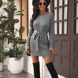Women's Mid-length Solid Color Half High Collar Dress Nihaostyles Clothing Wholesale NSBY76601