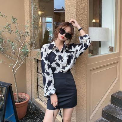 Loose Long-sleeved Shirt Nihaostyles Wholesale Clothing Vendor NSFYF76636