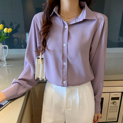Retro Temperament Long-sleeved Shirt Nihaostyles Wholesale Clothing Vendor NSFYF76638