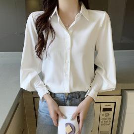 Temperament Lantern Sleeve Chiffon Shirt Nihaostyles Wholesale Clothing Vendor NSFYF76639