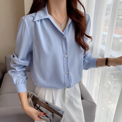 Loose Drape Long-sleeved Shirt Nihaostyles Wholesale Clothing Vendor NSFYF76642