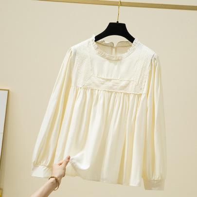 Stitching Small Loose Simple Shirt Nihaostyles Wholesale Clothing Vendor NSFYF76644