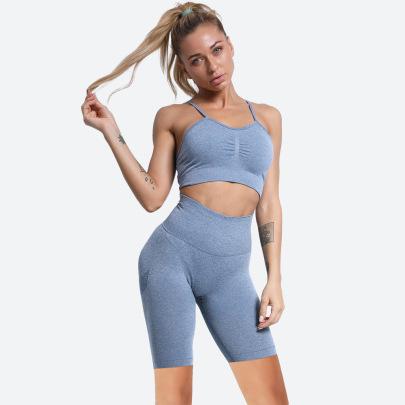 Women's Sports Bra Yoga Shorts Sets Nihaostyles Clothing Wholesale NSOUX76658