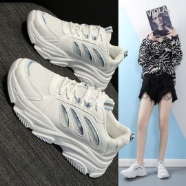 Women's Reflective Thick-soled Sports Shoes Nihaostyles Clothing Wholesale NSSC76738