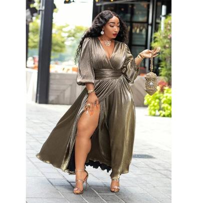 Women's Long Sleeve Plus Size Dress Nihaostyles Clothing Wholesale NSXHX76757