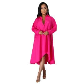 Women's Long-sleeved Shirt Dress Nihaostyles Clothing Wholesale NSXHX76761