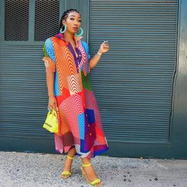 Women's Ethnic Style Shirt Dress Nihaostyles Clothing Wholesale NSXHX76767