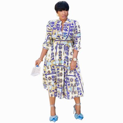 Women's Plus Size Mid-length Long Sleeves Dress Nihaostyles Clothing Wholesale NSXHX76776