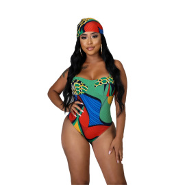 Women's Printed One-Piece Swimsuit Nihaostyles Clothing Wholesale NSXHX76795