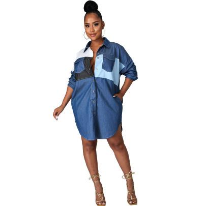 Women's Long-sleeved Denim Shirt Nihaostyles Clothing Wholesale NSXHX76800