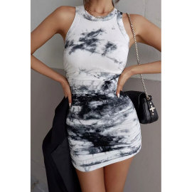 Women's Elastic Slim-fit Tie-dye Dress Nihaostyles Clothing Wholesale NSJIM77089